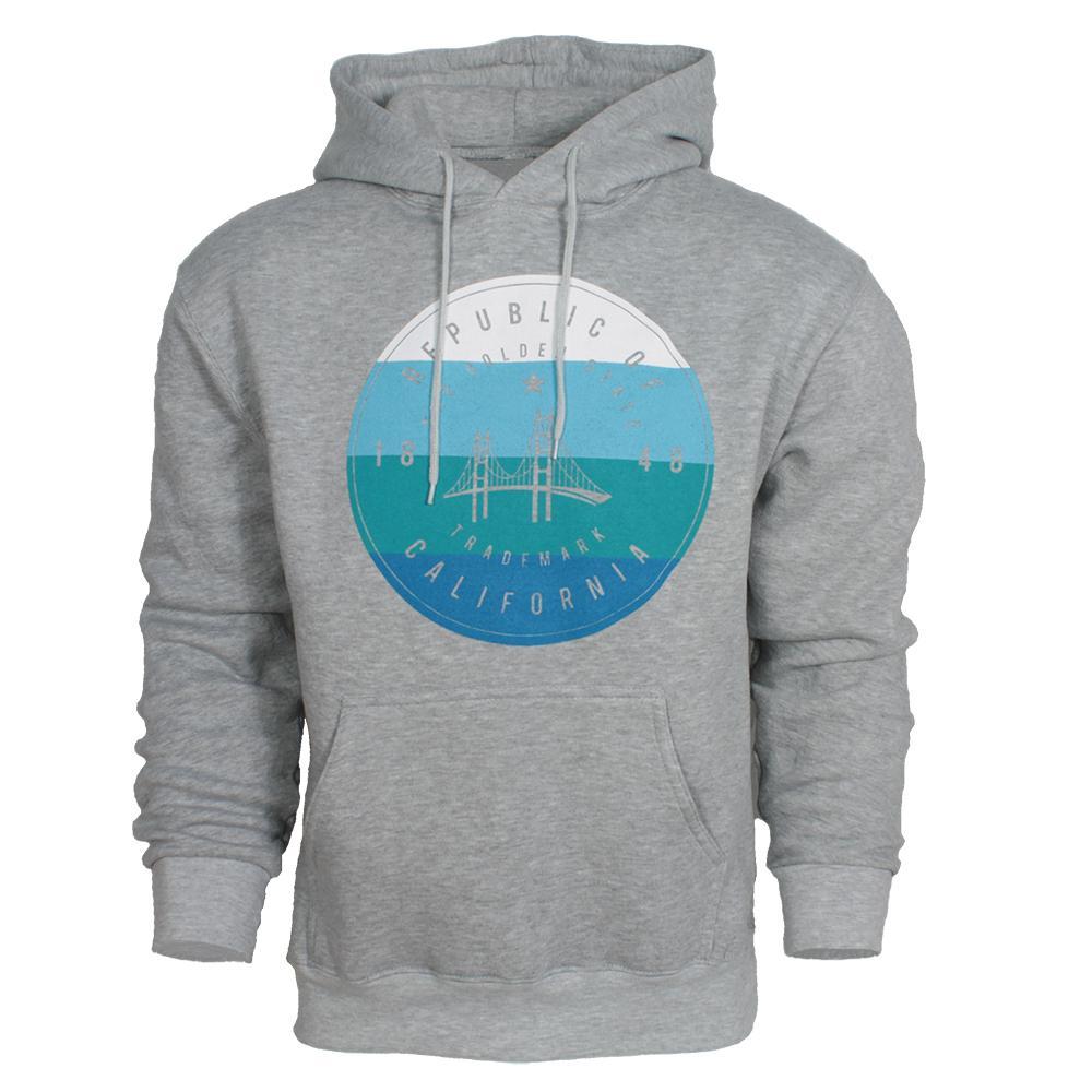 San Francisco Zip Up Sweatshirt With Blue Colored Design