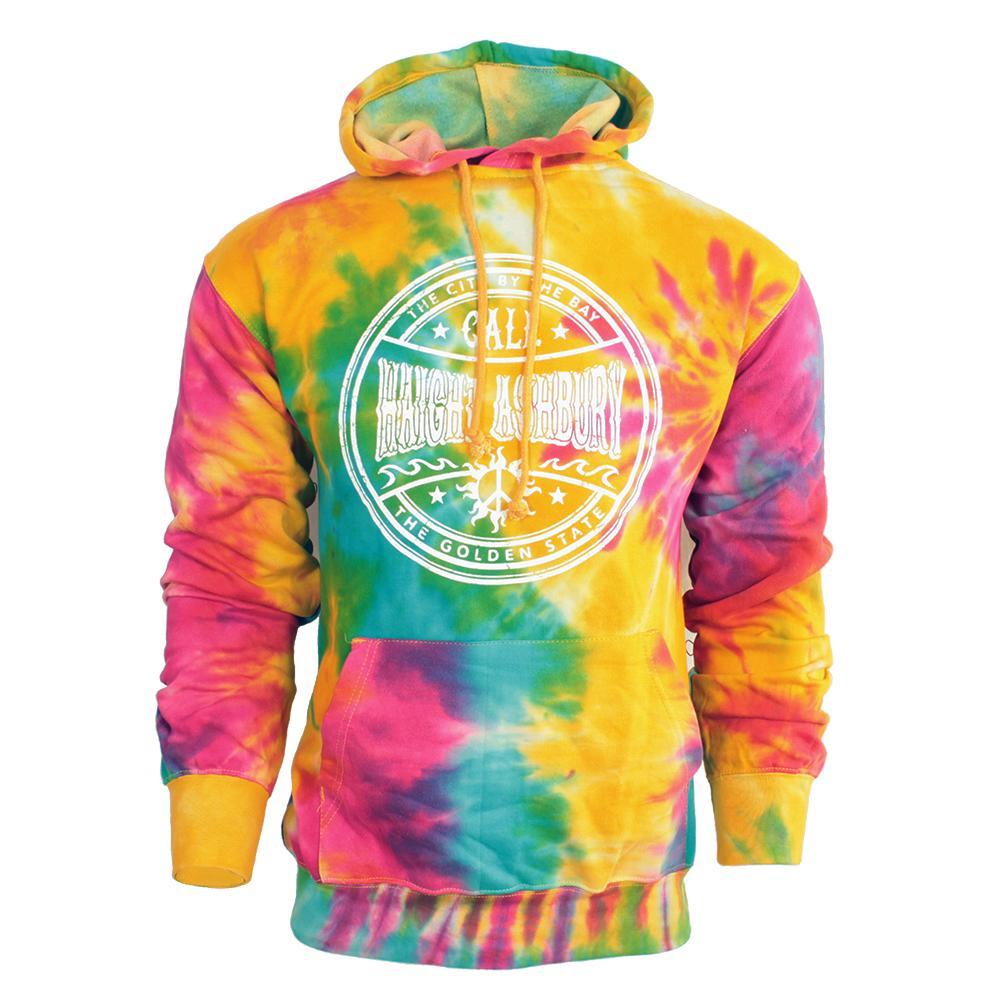 Haight Ashbury Tie Dye Hooded Sweatshirt