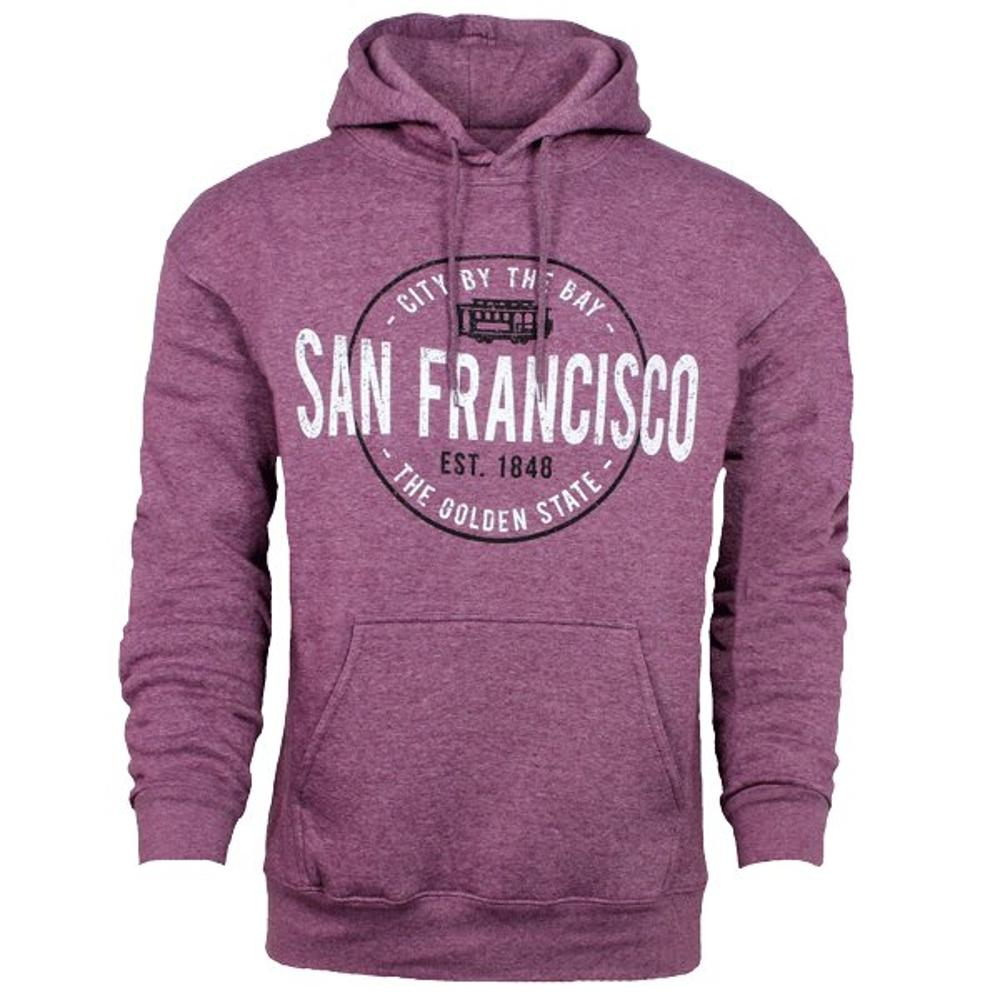 San Francisco Pullover Hoodie with Nuts and Bolts Design